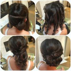 side updo How to curl so it layers the right direction Half up half down: Hair Ideas, Wedding Hair, Hair Styles, Wedding Side Updo, Bridal Hairstyles, Updos, Homecoming Updo, Updo Bridesmaid, How To Updo