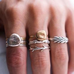 Silver and Gold Rock Ring Stack by ColbyJuneJewelry on Etsy: Fashion, Style, Jewelry, Rings, Things, Colby June