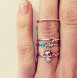 skinny stacked rings.: Stackable Rings, Skinny Stacked, Style, Stacked Rings, Jewelry Accessories, Knuckle Rings, Stacking Rings, Things