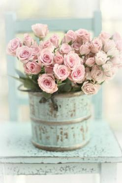 So pretty~: Beautiful Flower, Pink Roses, Idea, Shabby Chic, Wedding, Flowers, Garden, Shabbychic