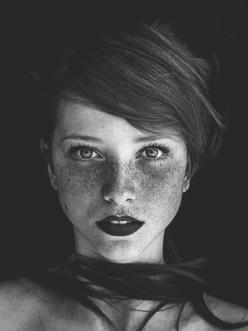 ~ some freckle faces can wear dark lipstick and not look like they got punched in the mouth...: Face, Beautiful, Redheads, Beauty, Freckles, Hair, Red Head, Photography