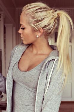 soon!!! my blonde roots are coming through FINALLY!!! can't wait to be natural again..: Pony Tail, Messy Ponytail, Hair Styles, Makeup, Longhair, Cute Ponytails, Ponytail Hairstyles, Hair Color, Hairstyles For Long Hair
