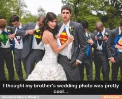 Sorry babe, but were doin this. You can be my superman I guess..(;: Wedding Ideas, Weddings, Wedding Photos, Dream Wedding, Photo Idea, Weddingideas, Future Wedding, Superhero
