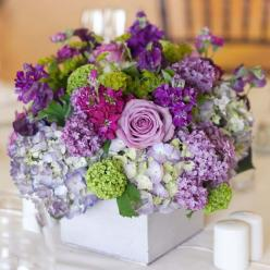 Spring Wedding Ideas - Ideas for Spring Weddings | Wedding Planning, Ideas  Etiquette | Bridal Guide Magazine: Purple Centerpiece, Wedding Ideas, Spring Wedding, Weddings, Flower Arrangements, Wedding Flowers, Color Palette, Wedding Centerpieces, Purple F