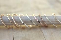 Stacking rings, gold ring, rose gold ring, SIMPLE YOU PICK own set, customize your style.  via Etsy.: Stackable Rings, Thin Gold Ring, Style, Jewelry, Stacking Rings, Rose Gold Rings