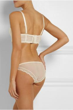 Stella McCartney | Minnie Sipping lace and point d'esprit briefs | NET-A-PORTER.COM: Sipping Low Rise, Silk, Stella Mccartney, Pretty Things, Minnie Sipping, Point Spirit, D Esprit Briefs, Sipping Lace