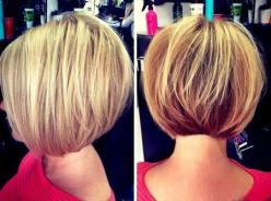 Straight Round Bob Haircut for Short Hair: Hairstyle Ideas, Bob Hairstyles, Short Wedge Hairstyle, Stacked Bob Haircut, Bob Hair Cut, Short Hair Bob, Bob Haircuts, Short Layered Bob