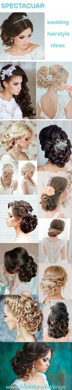 Stunning Wedding Hairstyles for Every Bride from Elstile.: Bridal Hair Style, Wedding Updo, Updos, Wedding Hair Style, Princess Wedding Dress