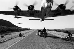 "test shots of Confederate Air Force's B-17 ""Sentimental Journey"" for an  Anti-Littering campaign, 1991: Aviation, B 17, B17, Flying Fortress, Aircraft, Low Pass, Photo"