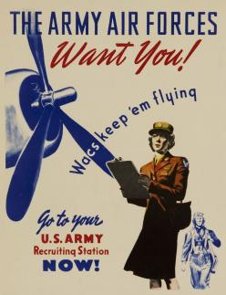 The Army Air Force Wants You!, circa 1944 - The Betty H. Carter Women Veterans Historical Project - University Archives - UNCG University Libraries: Historical Project, Wwii, War Ii, Military Women, Army Air, Photo
