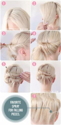 The Beauty Department: Your Daily Dose of Pretty. - KNOT TIE UPDO FOR SHORT HAIR: Short Hair, Diy Hairstyles, Updo Hairstyle, Tie Updo, Hair Styles, The Beauty Department, Hair Updo