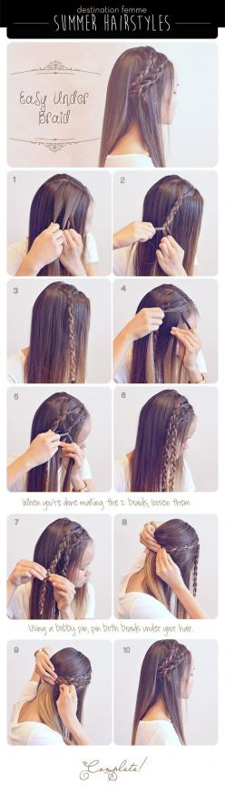 The Best 20 Useful Hair Tutorials On Pinterest 21: Hairstyles, Cute Easy Hair Style, Cute Hair Style, Straight Hair Hairstyle, Hair Tutorial, Straight Hairstyle, Summer Hair Style