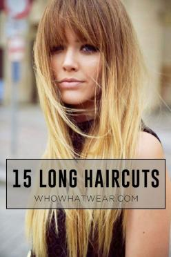 The best haircuts and styles for long #hair. #beauty: Beautytips Hairstyles, Long Hair Bang, Long Hair Haircut, Blonde Hair Bang, Hair Style, Long Hair Cut