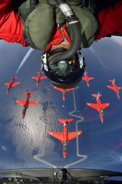 The best selfie ever? The Red Arrows are simply the best!: Selfie, Red Arrows, Aviation, Airplane, Aircraft, Photo