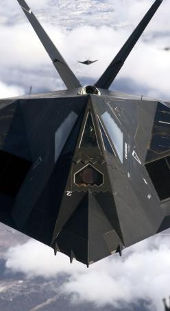 The big secret about this one, was that it was a fast attack bomber. It would confuse enemy radar long enough to drop a load and get out of Dodge. Very loud. It makes you look up. Night attacks are preferred. Only stealthy in the radar sense.: Air Force,