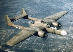 The Black Widow  The P-61 is of interest for a number of reasons, besides its rarity.  It was America's first night fighter designed specifically for that role.  From a design begun in 1940 came an aircraft as large as some medium bombers, but capable