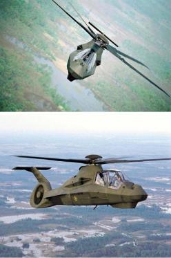 The Boeing/Sikorsky RAH-66 Comanche was an advanced U.S. Army military helicopter intended for the armed reconnaissance role, incorporating stealth technologies. It was also intended to designate targets for the AH-64 Apache. The RAH-66 program was cancel