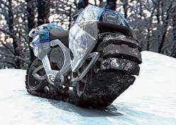 The Hyanide, wild concept vehicle created by German designers Oliver Keller & Tillman Schlootz for the 2006 Michelin Challenge Design :: :: Both the front and rear of the Hyanide rotate into a turn, which would give riders extra control while making s