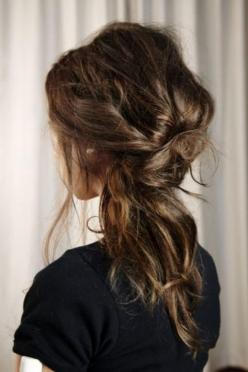 The inside-out ponytail | 25 Ways To Up Your Ponytail Game: Hairstyles, Make Up, Wedding Hair, Messy Hair, Hair Styles, Makeup, Beauty, Updo