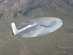The Lenticular Reentry Vehicle (LRV) - One of the many secret experimental disc-shaped aircrafts developed decades ago for the USAF: Air Force, Flying Saucer, Airplane, Aircraft, Strange Aircraft, Ufo, Planes, Photo