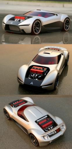 ♂ The Mitsubishi Double Shotz concept was created by Gary Ragle of Mitsubishi Motors Research and Design of America (MRDA) for the Hot Wheels Designer Challenge. Mitsubishi was one of six car manufacturers to display concept vehicles designed exclusively