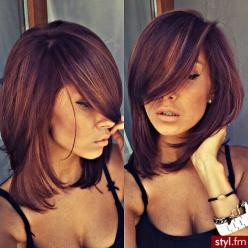 the more I see this, the more I love it. Pretty much my cut already, but better styling. and gorgeous color.: Haircuts, Hairstyles Color, Hair Colors, Medium Length, Hair Hair, Hair Styles, Hair Cuts, Hair Do, Long Bob