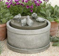 The  Passaros Fountain is adorable!: Water Feature, Garden Ideas, Cast Stone, Campania International, Outdoor Fountains, Gardens, Garden Fountains