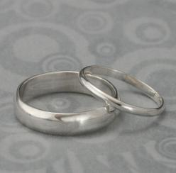 The Perfect Pair--Set of Two Plain Jane Sterling Silver Wedding Rings--Silver Wedding Ring Set custom made for YOU. $55.00, via Etsy.: Silver Wedding Rings, Wedding Rings Silver, 55 00, Wedding Band, Sterling Silver, Engagement Ring, Rings Silver Wedding,