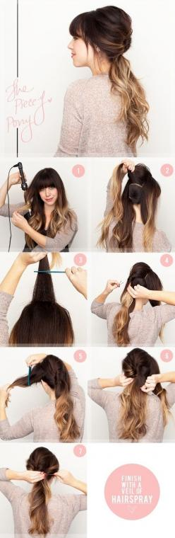 the pin of the day! can't wait to try these. How To Get Summers 27 Best Hairstyles: Pony Tail, Ponytail, Hairstyles, Hairdos, Hair Styles, Hair Tutorial, Hair Do, Hair Color, Updo