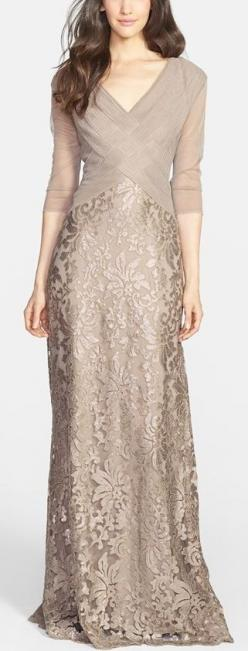 the prettiest Mother-of-the-Bride dress! http://rstyle.me/n/vknmsn2bn: Mature Bride, Mother Of The Bride Dress, Mother Of The Bride Gown, Grey Gown, Groom Dresses, Mother Of Bride Dress, Bride Dresses