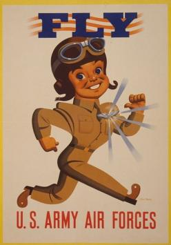 """The soldier is the Army. No army is better than its soldiers. The Soldier is also a citizen. In fact, the highest obligation and privilege of citizenship is that of bearing arms for one's country"": Airforce, Wwii Poster, Fly, Vintage, Army Air, War Ii, U"