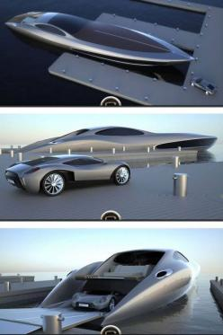 The Strand is the one of the world's most expensive yacht's that even comes with its own supercar #luxury #spon: Dream Vehicle, Amazing Cars, Supercar, Dream Cars, Awesome Cars