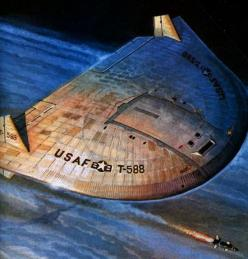 The USAF's Lenticular Reentry Vehicle (LRV) Project - Orbital Nuclear Bomber: Concept Art, Flying Saucer, Vehicle Lrv, Reentry Vehicle, Ufo, Concept Scifi Art, Saucer Designs, Space Arts