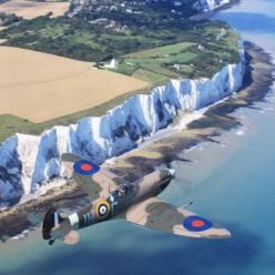 The White Cliffs of Dover: Spitfire flyover.  Beautiful shot considering the history of this special plane and the men who flew her:): Aviation History, Spitfire Flying, Military Aircraft, British Military, Bomber Spitfire, White Cliffs Of Dover, Aviation