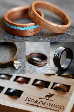 These bentwood rings made by Northwood are Ruralist approved!: Wood Wedding Ring, Unique Engagement Ring, Natural Engagement Ring, Wood Engagement Ring, Cool Engagement Ring, Nature Engagement Ring, Unique Engagment Ring
