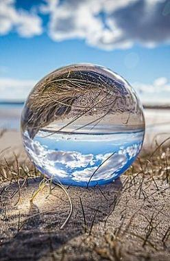 They both listened silently to the water, which to them was not just water, but the voice of life, the voice of being, the voice of perpetual becoming. ― Hermann Hesse via She Sings to the Stars: Reflections Photography, Glass Ball Photos, Reflection Phot