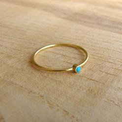 Thin Gold Ring  Delicate Gold Rings  Gemstone Ring by artemer, $38.00: Rings Gemstone, Delicate Gold, Gemstone Rings, Gold Gemstone, Thin Gold Rings, 14K Gold, Jewelry, Turquoise Rings