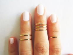 Thin gold ring - Stacking rings, Knuckle Ring, Gold shiny bands, Set of 6 stack midi rings, Gold jewelry, Wire ring, Gold accessories: Stackable Rings, Midi Rings, Wire Rings, Thin Gold Rings, Jewelry Wire, Knuckle Rings, Stacking Rings, Gold Jewelry, Gol