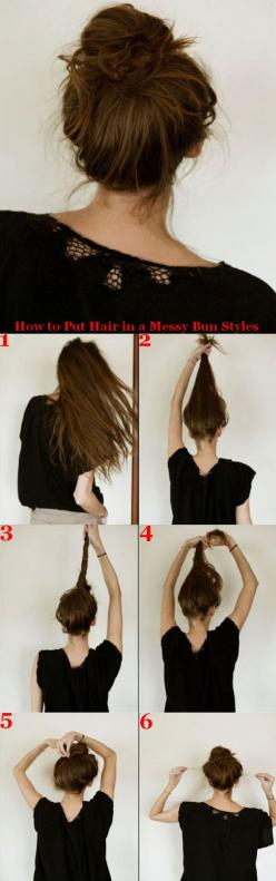 this is adorbs and works for my super thin hair when wet!: Messy Hairstyles For Long Hair, Bun Hairstyles For Thin Hair, Messy Bun Hairstyles, Hair Bun, How To Do A Messy Bun, Easy Messy Hairstyles, Hair Style, Quick Easy Hairstyles For Work