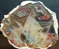 This is described as zeolite pseudomorph.  Maybe someone can verify that?  It's cool, whatever it is.: 100 9512, Rocks Minerals, Gemstone Minerals, Rocks Gemstones, Gemstones Crystals, Zeolite Pseudomorph, Photo Sharing, Minerals Rocks, Cool Rocks