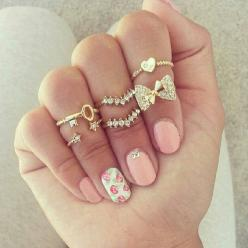 This is really cute: Midi Rings, Fashion, Nailart, Style, Jewelry, Nails, Accessories, Nail Art