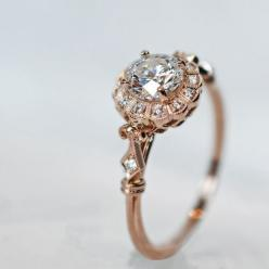 This is so pretty it hurts. Rose gold and diamond. The prettiness of this ring makes it a show stopping piece.: Vintage Ring, Engagementring, Dream Ring, Wedding Ideas, Diamond, Wedding Rings, Engagement Rings