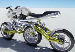 This is the A3W Motiv concept motorcycle by Julien Rondino. Besides the obvious three wheels in a row, it is made of aluminum and steel tubing plus a 999cc LC8 v-twin engine.: Motiv Concept, Cars Motorcycles, Unusual Motorbikes, Wheels, Concept Motorcycle
