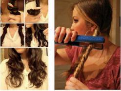 this looks really cute and just easy steps! : part your hair twist the parts run straightener over twists WELLA!: Hair Ideas, Flat Irons, Hairstyles, Hair Styles, Wavy Hair, Waves, Makeup, Curls, Beauty