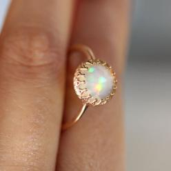 This Pin was discovered by Parris Christian. Discover (and save!) your own Pins on Pinterest.: 14K Rose, Opal Rings, Rosegold, Wedding, Rose Cut, Engagement Ring, Rose Gold Rings