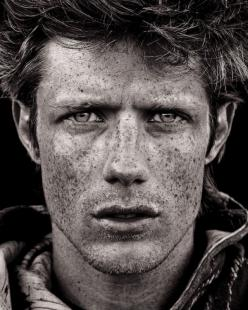 this portrait is incredible. So gritty and so textured. I really, really love this. Image by Joel Bedford: Photos, But, Portrait Photography, Faces, Self Portraits, Joel Bedford, Freckles, Beautiful People, Eye