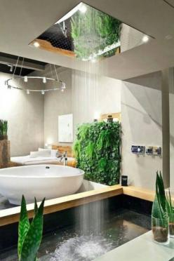 This shower looks like an indoor rain - funny pictures #funnypictures: Decor, Interior Design, Showers, Bathroom Design, Ideas, Dream House, Awesome Shower, Dream Bathroom