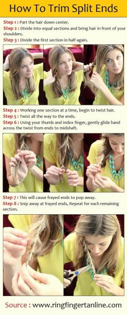 this will save so much time with my long, layered hair!!: Split Ends, Hairstyles, Beauty Tips, Idea, Stuff, Hair Styles, Makeup, Tutorial