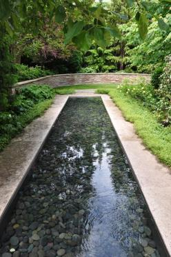 Three Dogs in a Garden: How the Other Half Garden- gorgeous gardens, I particularly like this water feature: Three Dogs, Waterfeatures, Pond Idea, Water Features, Garden Water Feature, Half Garden, Garden Ponds