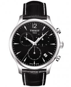 Tissot Watch, Men's Swiss Chronograph Tradition Black Leather Strap T0636171605700: Black Leather, Strap T0636171605700, Watches Men, Swiss Chronograph